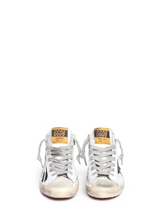 Golden Goose 'Francy' asymmetric star print leather kids sneakers