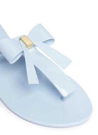 Detail View - Click To Enlarge - Melissa - 'T Bar V' bow flip flops