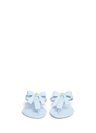 Front View - Click To Enlarge - Melissa - 'T Bar V' bow flip flops