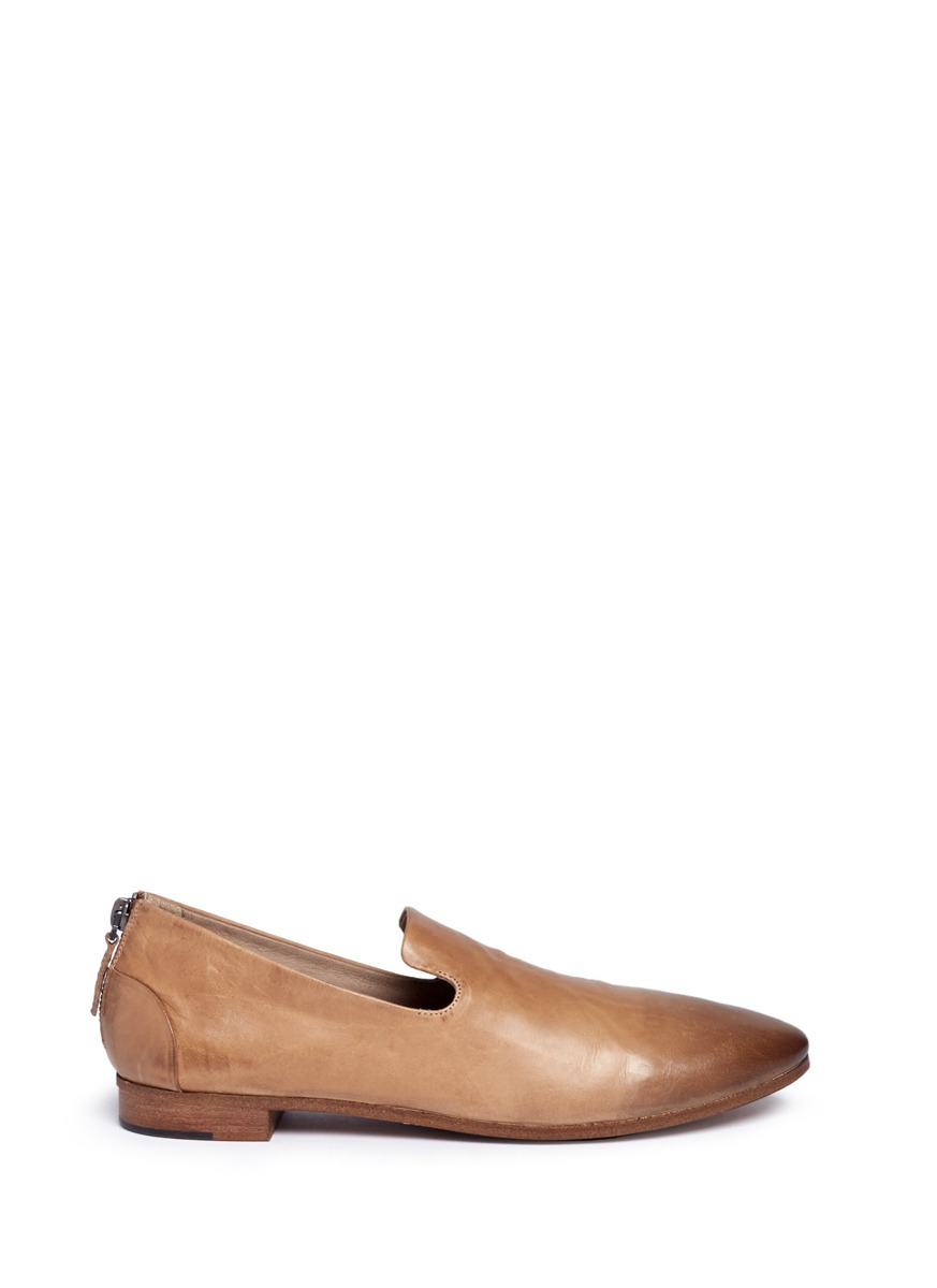 Colteldino distressed leather slip-ons by Marsèll