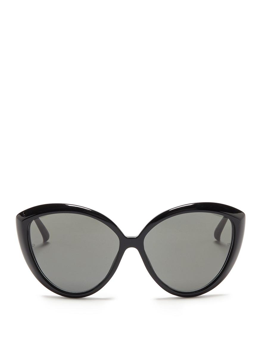 Acetate cat eye sunglasses by Linda Farrow
