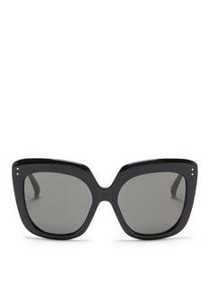 Linda FarrowAcetate chunky square sunglasses