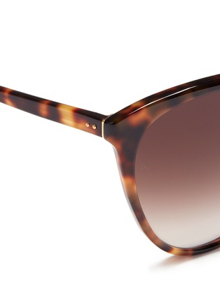 Detail View - Click To Enlarge - Linda Farrow - Oversized tortoiseshell cat eye sunglasses