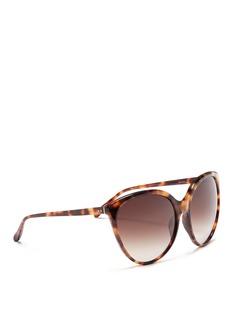 Linda FarrowOversized tortoiseshell cat eye sunglasses