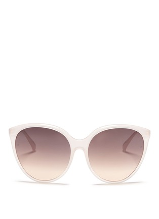 Main View - Click To Enlarge - LINDA FARROW VINTAGE - Oversized acetate round cat eye sunglasses