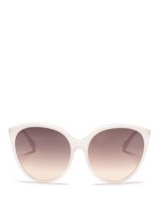 LINDA FARROW Oversized Acetate Round Cat Eye Sunglasses