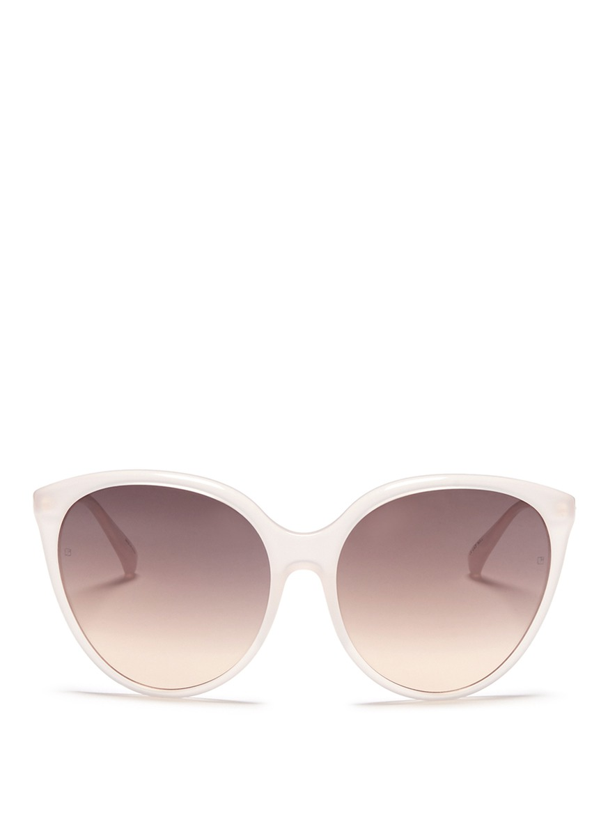 Oversized acetate round cat eye sunglasses by Linda Farrow