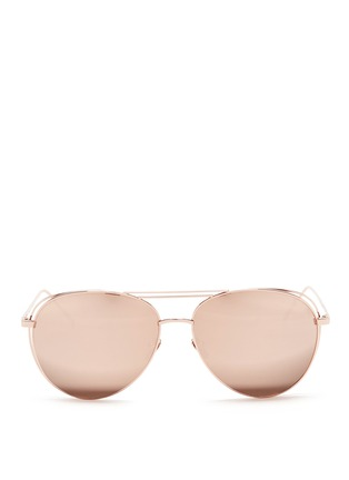 Main View - Click To Enlarge - Linda Farrow - Open wire aviator sunglasses