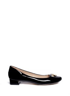 Tory Burch 'Gigi' logo plate patent leather pumps