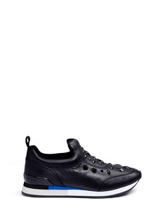 Tory Burch 'Laney' glass stone stretch leather sneakers