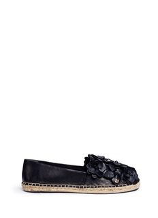Tory Burch 'Blossom' floral leather espadrilles
