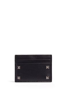 ValentinoRockstud' leather card holder