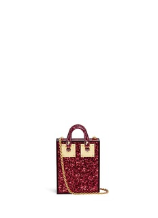 Sophie Hulme 'Compton' inset glitter Perspex crossbody bag