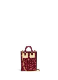 Sophie Hulme'Compton' inset glitter Perspex crossbody bag