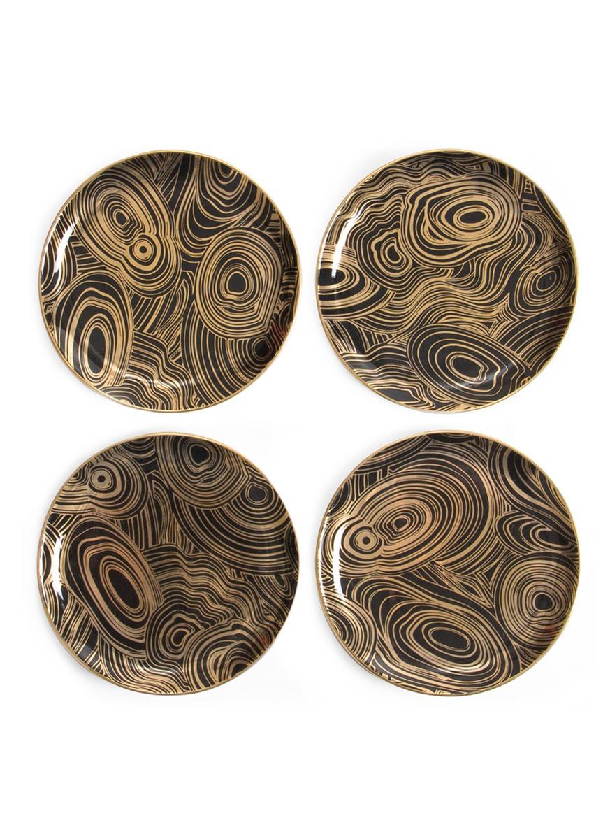 Malachite coaster set by Jonathan Adler