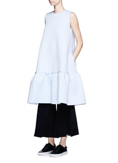 Xiao LiFlared leg felted wool blend pants