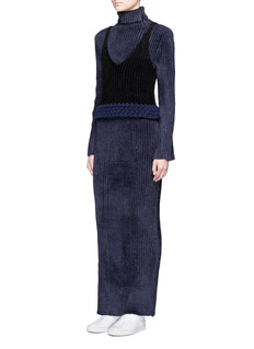 Xiao Li'Lusso' rib knit turtleneck maxi dress