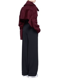 Xiao LiFly back felted wool blend cropped jacket