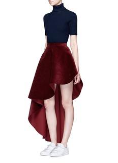 Xiao LiAsymmetric corduroy flared skirt