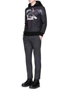 Neil Barrett'Horse Eagle' print neoprene hoodie