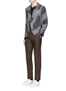 Neil Barrett Glen plaid geometric jacquard blazer
