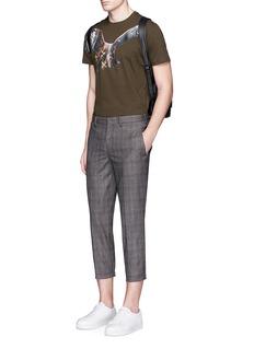 Neil BarrettGlen plaid cropped wool jogging pants