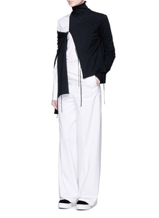 Ports 1961 Cotton gabardine wide leg pants