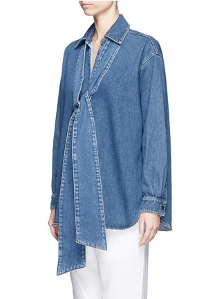 Chloé - Washed denim neck tie top