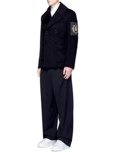 Alexander McQueen Badge patch embroidery double-breasted peacoat