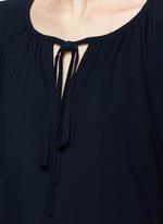Drawstring V-neck cady dress