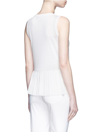 Back View - Click To Enlarge - Theory - 'Elvnee' plissé pleat slub jersey top