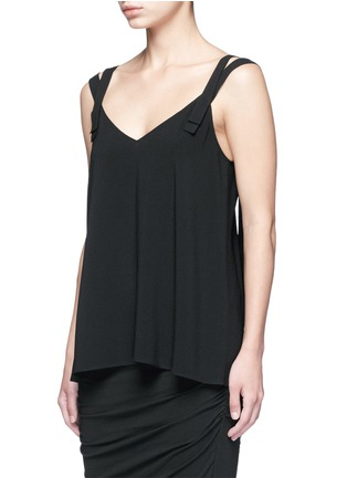 Front View - Click To Enlarge - Helmut Lang - Double strap high twist crepe camisole