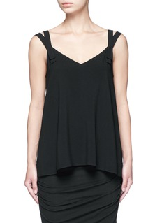 HELMUT LANG Double strap high twist crepe camisole