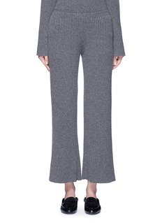 The Row 'Latone' cashmere rib knit flared pants