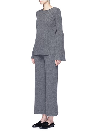 The Row - 'Latone' cashmere rib knit flared pants