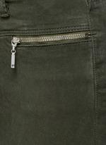 'Miranda' mid rise zip sateen skinny pants