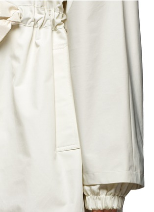 Detail View - Click To Enlarge - Stella McCartney - Hooded cotton blend technical caban coat
