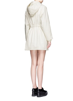 Back View - Click To Enlarge - Stella McCartney - Hooded cotton blend technical caban coat