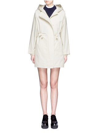 Main View - Click To Enlarge - Stella McCartney - Hooded cotton blend technical caban coat