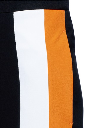 Detail View - Click To Enlarge - Stella McCartney - Stripe silk crepe pants