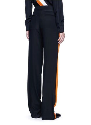 Back View - Click To Enlarge - Stella McCartney - Stripe silk crepe pants