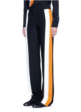 Front View - Click To Enlarge - Stella McCartney - Stripe silk crepe pants