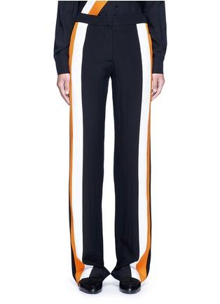 Stella McCartney-Stripe silk crepe pants