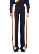 Stripe silk crepe pants
