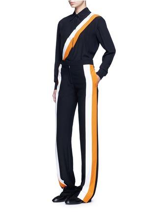 Figure View - Click To Enlarge - Stella McCartney - Stripe silk crepe pants