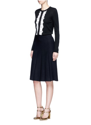 Figure View - Click To Enlarge - alice + olivia - Sequin ruffle trim wool cardigan