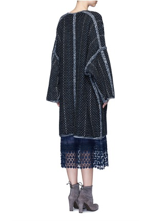 Back View - Click To Enlarge - Chloé - Tweed effect wool-cashmere coat
