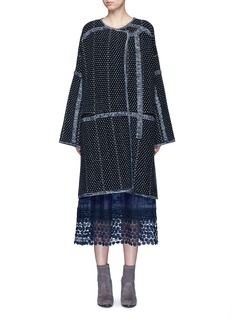 Chloé Tweed effect wool-cashmere coat