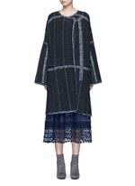 Tweed effect wool-cashmere coat