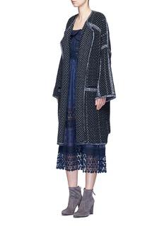 CHLOÉTweed effect wool-cashmere coat
